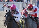"Sunbean (outside) catches Watch My Smoke late to win the Louisiana Champions Day Classic.<br><a target=""blank"" href=""http://photos.bloodhorse.com/AtTheRaces-1/At-the-Races-2014/i-f7dswmT"">Order This Photo</a>"
