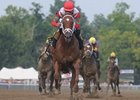 "Saratoga Special winner D' Funnybone may run in the Champagne or go straight to the Breeders' Cup.<br><a target=""blank"" href=""http://www.bloodhorse.com/horse-racing/photo-store?ref=http%3A%2F%2Fpictopia.com%2Fperl%2Fgal%3Fprovider_id%3D368%26ptp_photo_id%3D8419331%26ref%3Dstory"">Order This Photo</a>"
