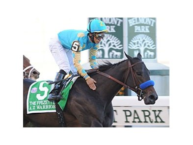 "A Z Warrior and Alan Garcia find grade I glory in the Frizette.<br><a target=""blank"" href=""http://www.bloodhorse.com/horse-racing/photo-store?ref=http%3A%2F%2Fpictopia.com%2Fperl%2Fgal%3Fprovider_id%3D368%26ptp_photo_id%3D9226136%26ref%3Dstory"">Order This Photo</a>"