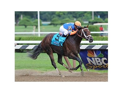 Stay Thirsty winning the Travers Stakes