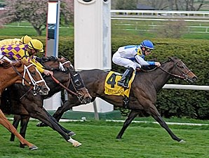 Rutherienne leaves the rest as she rolls to victory in the Jenny Wiley Stakes.