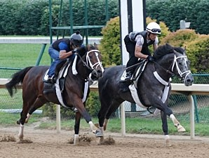 Mission Impazible works with Excited toward the Stephen Foster Handicap.