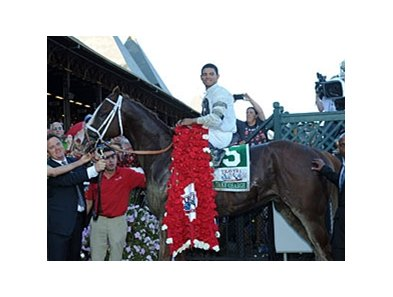 "Will Take Charge after winning the Travers Stakes.<br><a target=""blank"" href=""http://photos.bloodhorse.com/AtTheRaces-1/at-the-races-2013/27257665_QgCqdh#!i=2722885989&k=S2jrCzR"">Order This Photo</a>"