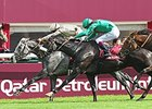 Dalkala, center, wins the Prix de l'Opera Longines.