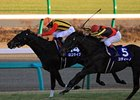 Logotype wins the Asahi Hai Futurity.