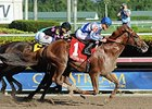 "Lea gets up late to win the Hal's Hope.<br><a target=""blank"" href=""http://photos.bloodhorse.com/AtTheRaces-1/At-the-Races-2015/i-JZDK7kB"">Order This Photo</a>"