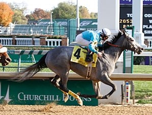 On Fire Baby wins the 2011 Pocahontas.