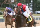 Dryfly captured the Smarty Jones Stakes at Oaklawn Park by 2 1/4 lengths over Pleasant Storm.