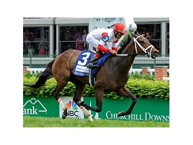 Kitten's Dumplings in the Edgewood Stakes.
