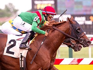 Cerro wins the 2013 Canonero II Stakes.