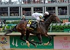 "Kentucky Oaks winner Rachel Alexandra<br><a target=""blank"" href=""http://www.bloodhorse.com/horse-racing/photo-store?ref=http%3A%2F%2Fpictopia.com%2Fperl%2Fgal%3Fprovider_id%3D368%26ptp_photo_id%3D8062163%26ref%3Dstory"">Order This Photo</a>"