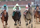 Sky Girl (right) gets up late to win the Dogwood at Churchill.