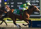 Pyrite Mountain defeats Uncaptured in the Wando Stakes.