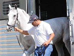 Hansen arrives at Churchill Downs on May 2, 2012.