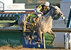 Miss Isella and Calvin Borel pull away in the Falls City Handicap.