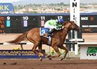 Red Lead soared past the leaders to win the Sunland Park Handicap.