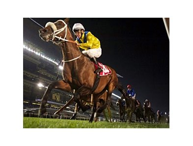 Master of Hounds returns to the winner's circle in the Jebel Hatta.
