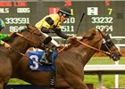 "The fourth time might be the charm for Awesome Gem in the Pacific Classic.<br><a target=""blank"" href=""http://www.bloodhorse.com/horse-racing/photo-store?ref=http%3A%2F%2Fpictopia.com%2Fperl%2Fgal%3Fprovider_id%3D368%26ptp_photo_id%3D9102112%26ref%3Dstory"">Order This Photo</a>"