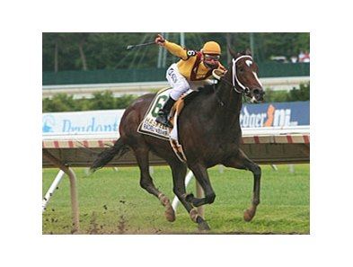Rachel Alexandra, who defeated 3-year old males in the Haskell, takes on older males in the Woodward.