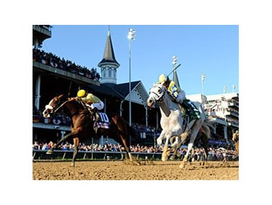 Hansen (right) and Union Rags are among the 397 horses nominated to the Triple Crown.