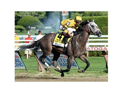 "Cross Traffic leads all the way to take the Whitney Invitational.<br><a target=""blank"" href=""http://photos.bloodhorse.com/AtTheRaces-1/at-the-races-2013/27257665_QgCqdh#!i=2676041124&k=Pp9HCNj"">Order This Photo</a>"
