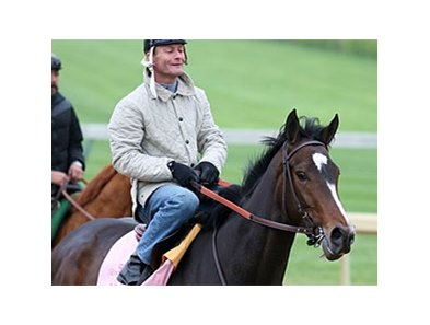 Rachel Alexandra is scheduled to work on April 27.