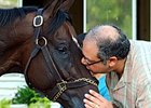 Nehro with owner Ahmed Zayat.