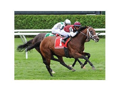 "Justenuffhumor shakes off Cowboy Cal to win the Bernard Baruch Handicap. <br><a target=""blank"" href=""http://www.bloodhorse.com/horse-racing/photo-store?ref=http%3A%2F%2Fpictopia.com%2Fperl%2Fgal%3Fprovider_id%3D368%26ptp_photo_id%3D8441118%26ref%3Dstory"">Order This Photo</a>"