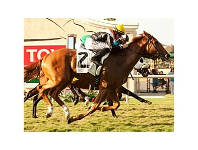 Old Time Hockey gets up late to win the La Jolla Handicap at Del Mar.