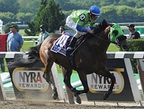 Redeemed wins the 2012 Brooklyn Handicap.