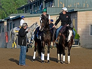 Upstart with trainer Rick Violette- Breeders' Cup 2014