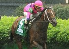 "Tizdejavu upsets the Crown Royal American Turf under Garret Gomez.<br><a target=""blank"" href=""http://www.bloodhorse.com/horse-racing/photo-store?ref=http%3A%2F%2Fpictopia.com%2Fperl%2Fgal%3Fprovider_id%3D368%26ptp_photo_id%3D4378712%26ref%3Dstory"">Order This Photo</a>"