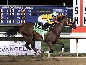 Heitai wins the 2014 Louisiana Legends Sprint Stakes.