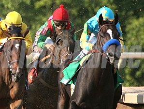 Prayer for Relief wins the 2011 Super Derby.