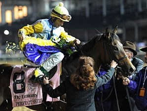 Perfect Shirl wins the 2011 Breeders' Cup Filly & Mare Turf.
