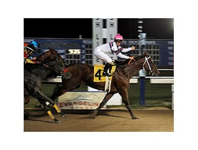 Star Guitar captured a repeat victory in Evangeline Downs' signature race, the Evangeline Mile.