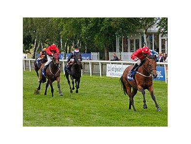 "Mayson cannot be caught in the Darley July Cup at Newmarket.<br><a target=""blank"" href=""http://photos.bloodhorse.com/AtTheRaces-1/at-the-races-2012/22274956_jFd5jM#!i=1964440676&k=XGGPKx5"">Order This Photo</a>"