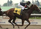 Sugar Swirl takes command in the Scotzanna Stakes at Woodbine.