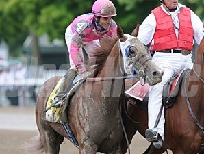 Blind Luck after winning the 2010 Alabama.