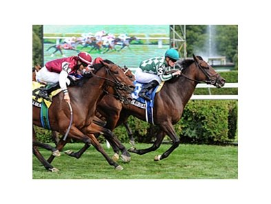 "Centre Court emerges from the pack to win the Lake George.<br><a target=""blank"" href=""http://photos.bloodhorse.com/AtTheRaces-1/at-the-races-2012/22274956_jFd5jM#!i=1987456268&k=7BLRHKr"">Order This Photo</a>"