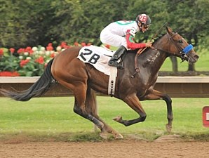 Franny Freud shown winning the 31st Running of The $150,062 Lady Finger Stakes.