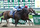 "C C's Pal (inside) fights off Nicole H to win the Vagrancy Handicap.<br><a target=""blank"" href=""http://photos.bloodhorse.com/AtTheRaces-1/at-the-races-2012/22274956_jFd5jM#!i=1881930645&k=7qML7wx"">Order This Photo</a>"