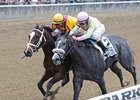 "My Happy Face (right) finished just a head behind Dreaming of Julia in the Frizette Stakes.<br><a target=""blank"" href=""http://photos.bloodhorse.com/AtTheRaces-1/at-the-races-2012/22274956_jFd5jM#!i=2134879633&k=Fj7mZVV"">Order This Photo</a>"