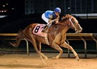 Duke of Mischief and Joe Bravo winning the 2011 Charles Town Classic.