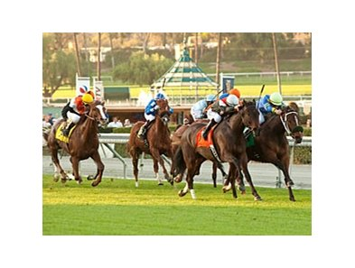 Customer Base (left) gets up late to win the Robert J. Frankel.
