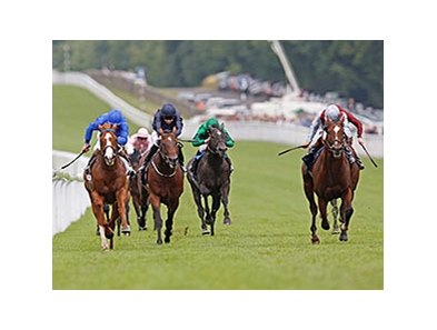 "Toronado (right) takes the QIPCO Sussex Stakes at Goodwood Racecourse. <br><a target=""blank"" href=""http://photos.bloodhorse.com/AtTheRaces-1/at-the-races-2013/27257665_QgCqdh#!i=2668584011&k=7h6jBv8"">Order This Photo</a>"
