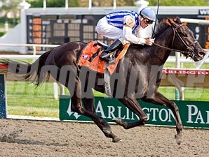 Euphony wins the 2009 Arlington Matron.
