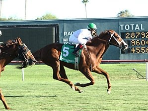 Gleam of Hope wins the 2012 Walter R. Cluer Memorial Stakes.