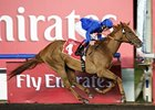 African Story takes command in the Burj Nahaar under Frankie Dettori.