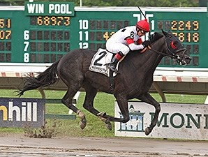 Slim Shadey wins the 2014 Elkwood Stakes.